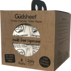8 Pack Güdsheet Forest Friendly 2-ply Toilet Paper