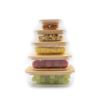 glass food containers set