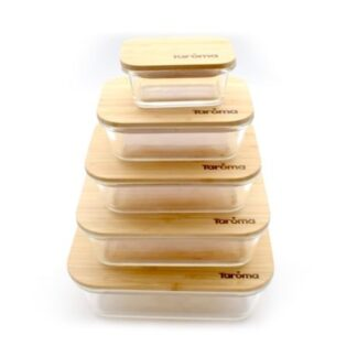 Rich results on Google's SERP when searching for 'glass containers with bamboo lids'