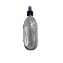 500ml Clear Glass Bottle with Atomiser Spray Cap
