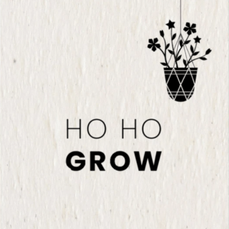 button to buy Ho Ho Grow Christmas card