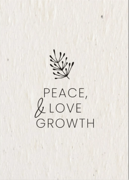 botton to buy Peace, Love and Growth Christmas card