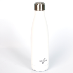 Steely Insulated Stainless Steel Bottle – White