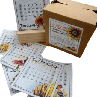 plantable paper desk calendar