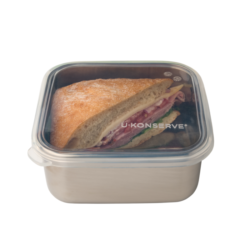 U Konserve Square To-Go Container with Silicone Lid