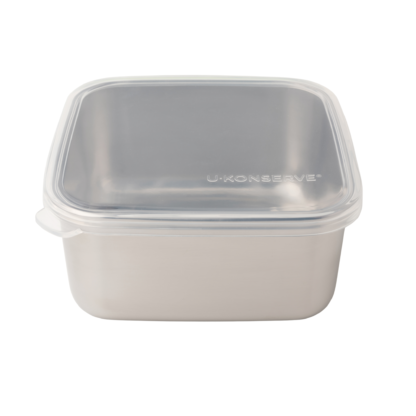 silicone and stainless steel container