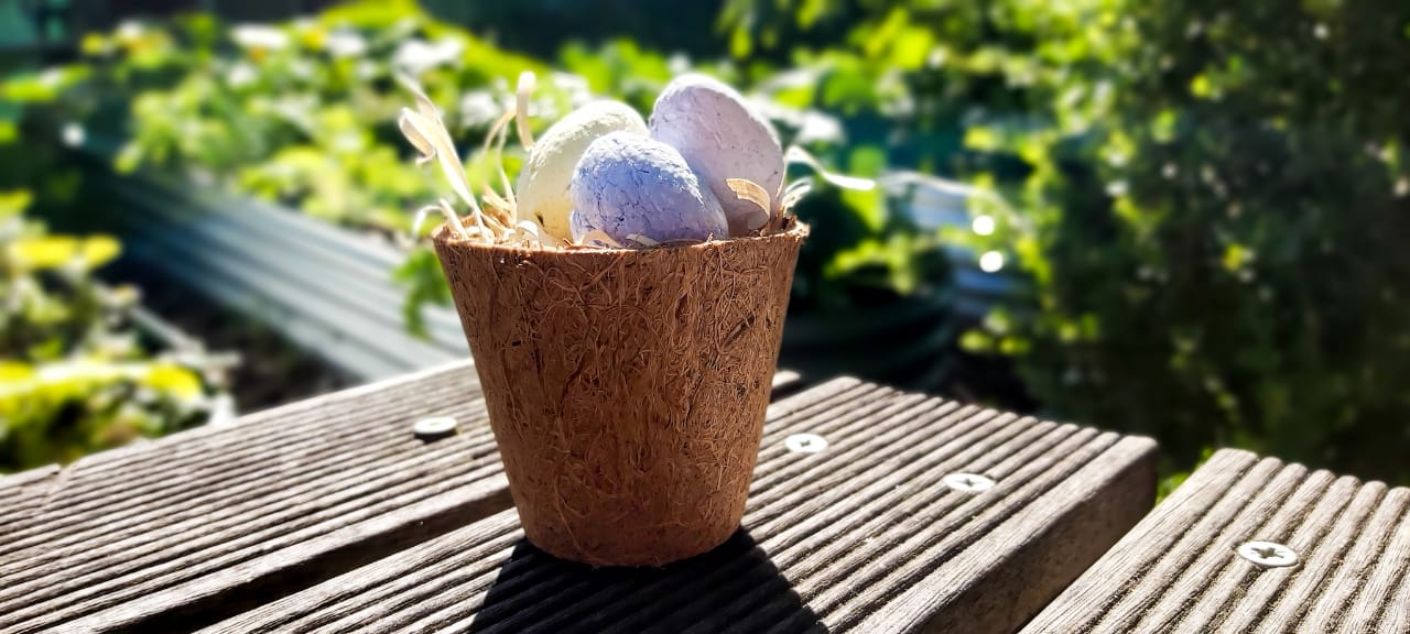 dairy free Easter egg basket