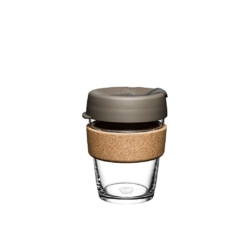 KeepCup 'Latte' Glass Cup Brew Cork Edition 355ml or 473ml