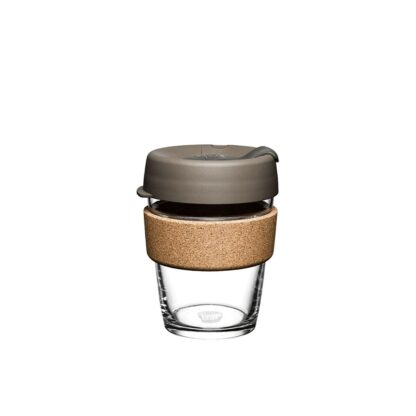 glass and cork cup